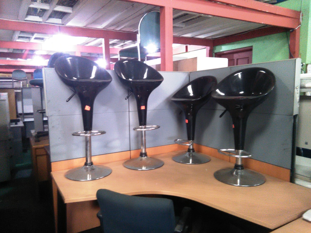 office chair bar chair black color high chair with gas lift